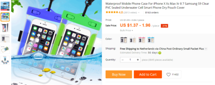 waterproof dropshipping products to avoid