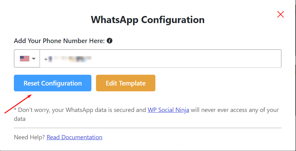 live chat WhatsApp configuration