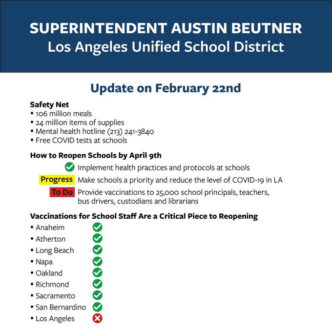 LAUSD Info Update on Feb 22