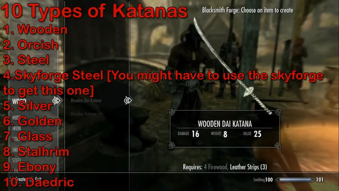 Skyrim weapon mod PS4