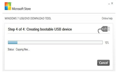 Tạo boot Windows 7 từ USB