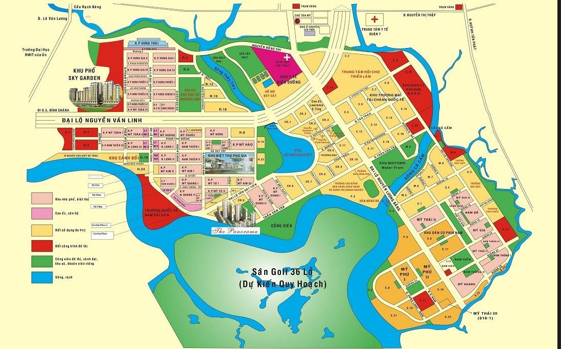 Quy hoạch tổng thể khu đô thị Phú Mỹ Hưng Quận 7 - TpHCM