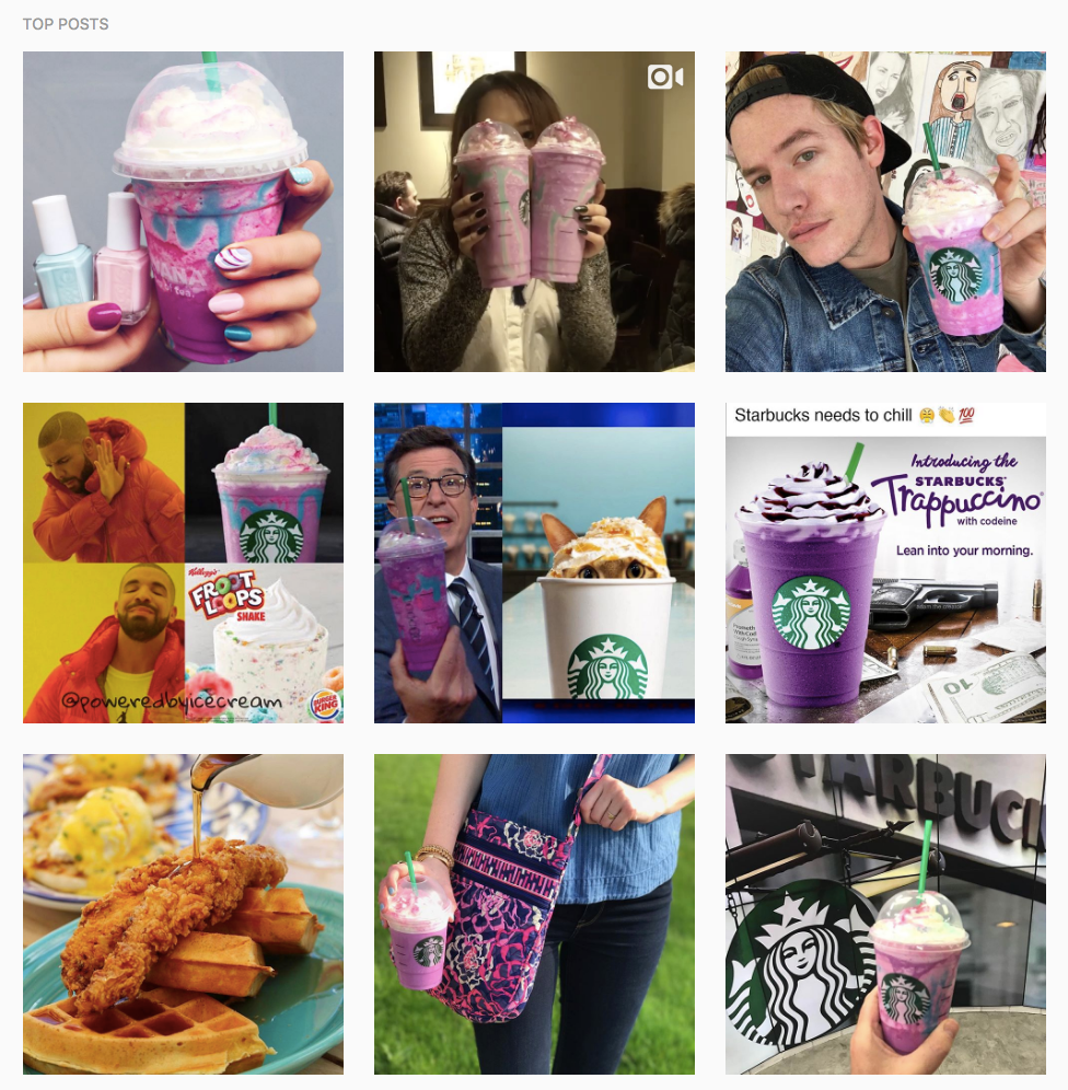 Starbucks Unicorn Frapp social media campaign idea