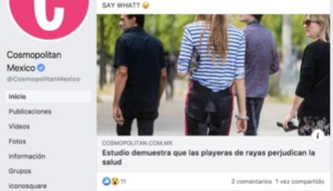 Ejemplos de clickbait: «Estudio demuestra que las playeras de rayas perjudican la salud»