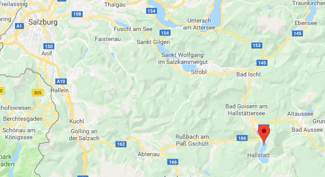 Hallstätter See Oostenrijk op kaart Google Maps