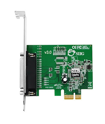 SIIG Cyber 2S1P PCIe JJ-P21211-S1 Dual Serial 9 Pin RS-232 1 Parallel Port
