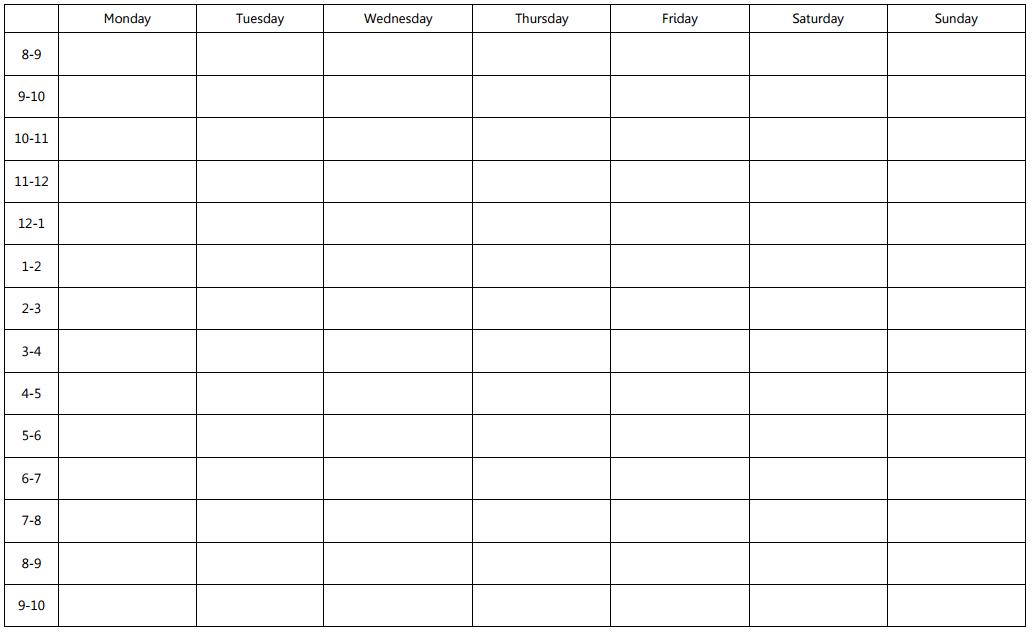 excel template weekly schedule