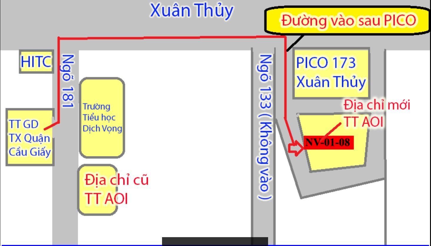 NV01 - 08 Số 173 Xuân Thủy ( Phía sau siêu thị PICO)