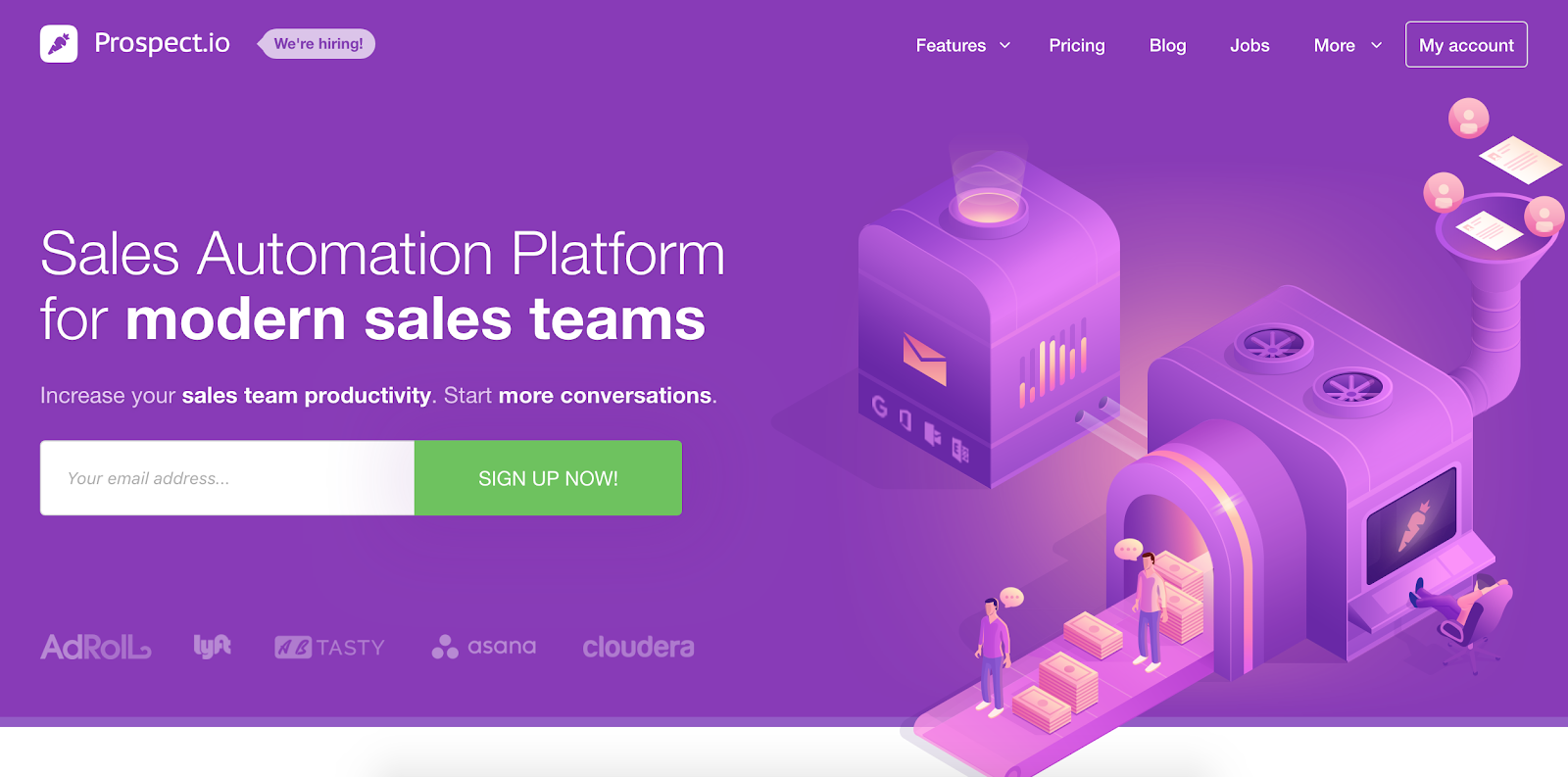 Prospect.io is the third Best B2B Lead Generation Tool example | The article is 21 of the Best B2B Lead Generation Tools for 2020