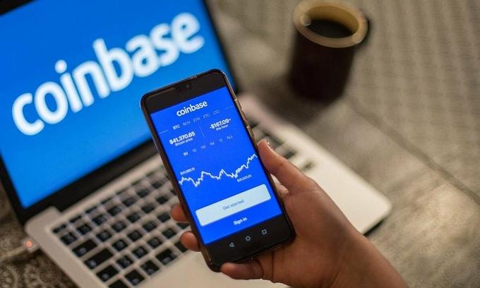 Coinbase hiện là sàn tiền ảo lớn nhất Mỹ. Ảnh: Reuters