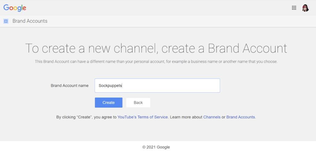 Designs.ai |  Doit savoir créer une chaîne YouTube de qualité pour votre entreprise - Étape 1: créer une chaîne YouTube