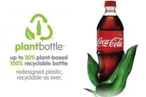 plant bottle кока-кола