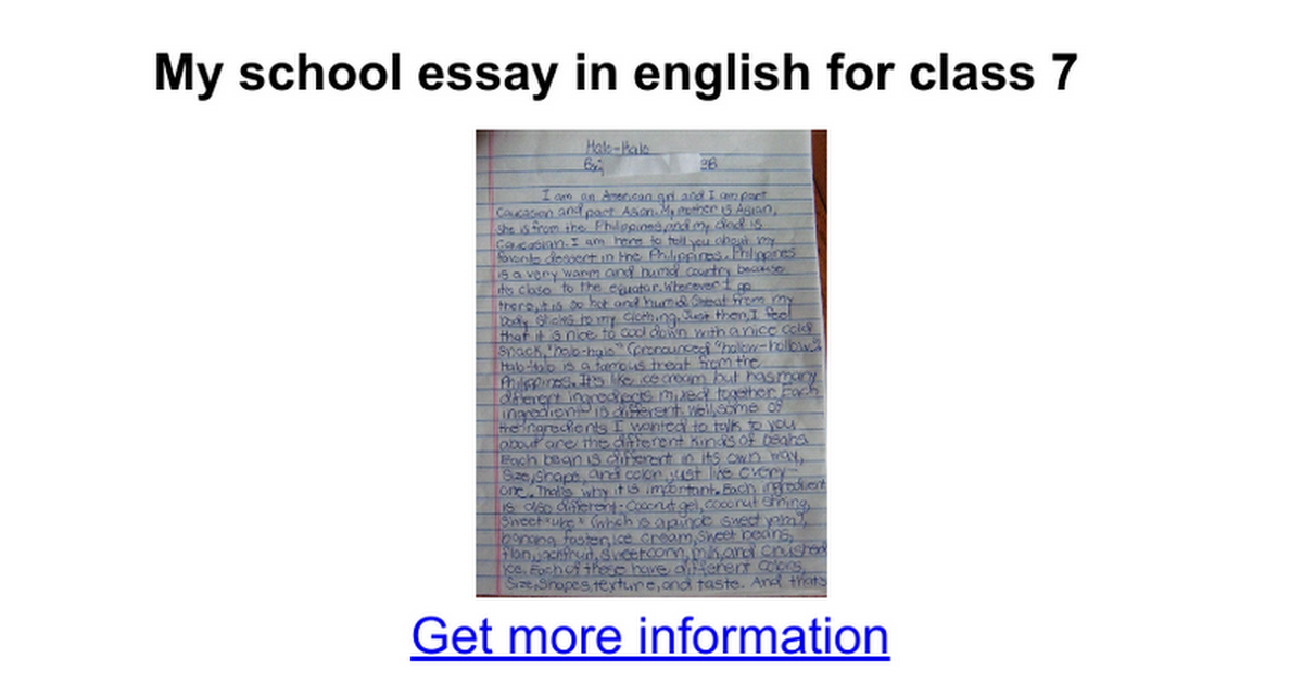 Business Etiquette Essay  Research Paper Essay also Persuasive Essay Thesis Statement Examples My School Essay In English For Class   Google Docs English Composition Essay Examples
