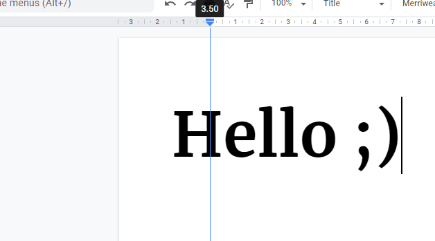 Move scale in Google Docs