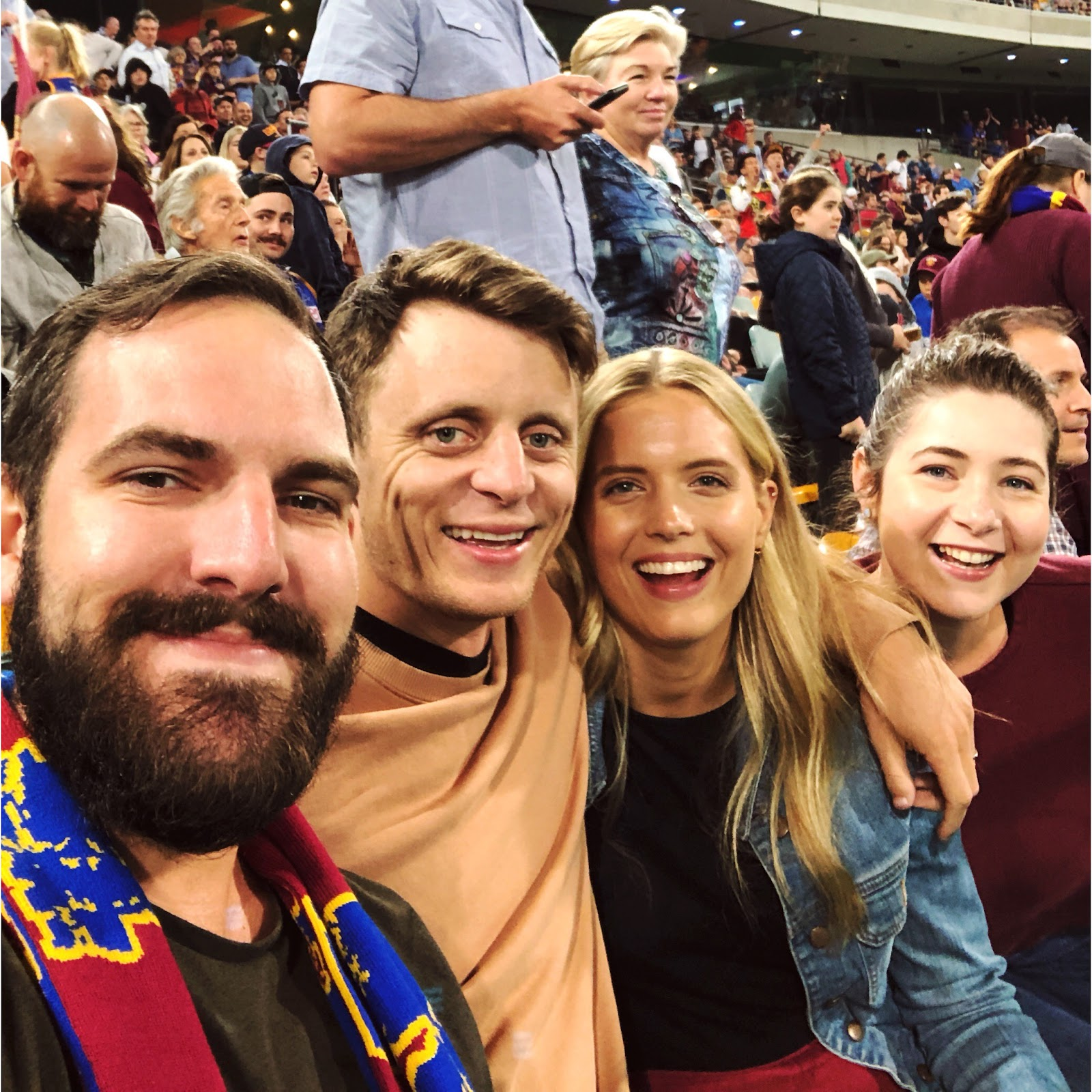 Image: friends at AFL