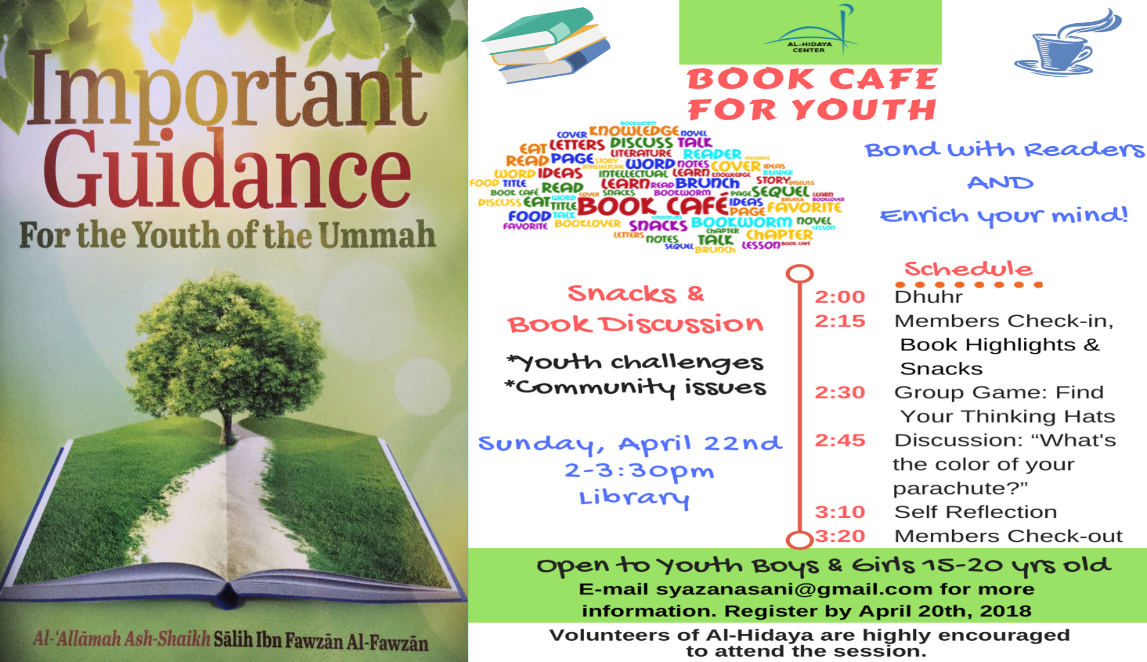 Book highlights will be given to registrants at least 2 days before the session, In shaa Allah.
