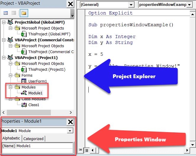 Microsoft Project VBA - The Properties Window | Mad Schedules