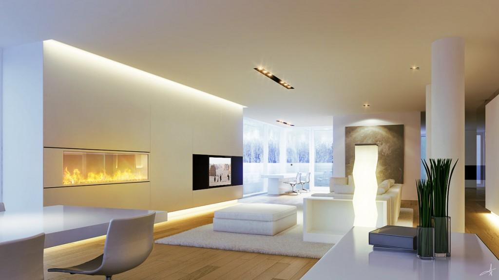 Warna dinding berpengaruh pada tingkat pencahayaan sebuah ruangan - source: ledstripslights.co.uk