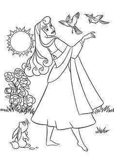 A nature valentine coloring page