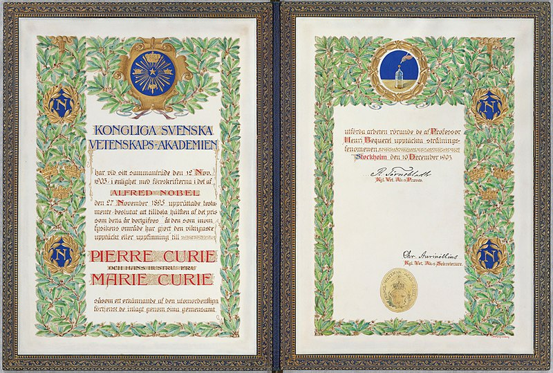 Ficheiro:Nobel Pierre et Marie Curie 1.jpg