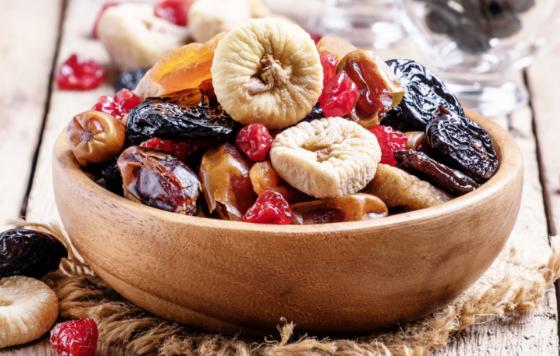 Trái cây khô là loại thức ăn giàu protein